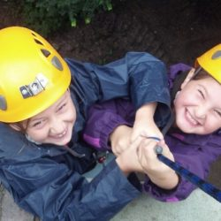 Youngsters abseiling